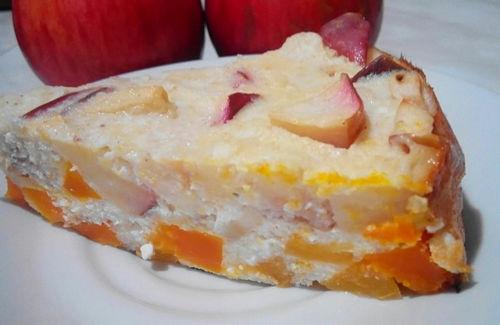 яблочная запеканка для детей